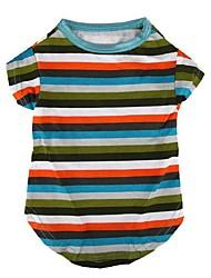 Classic Stripe Pattern Pet T-Shirt