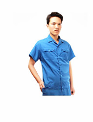algodão lavado curta camisa de trabalho mangas tamanho 180