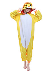 NEWCOSPLAY Gold Lion Polar Fleece Adult Kigurumi Pajama