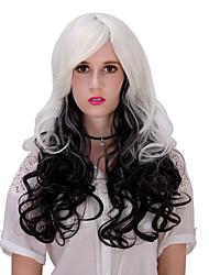 Black white gradual change hair wig.WIG LOLITA, Halloween Wig, color wig, fashion wig, natural wig, COSPLAY wig.