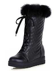 Women's Boots Winter Platform / Snow Boots / Round Toe Lace-up Black / White Snow Boots / Others