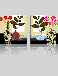 JAMMORY Canvas Set Landscape ,Two Panels Gallery Wrapped, Ready To Hang Vertical Print No Frame Flower Plants
