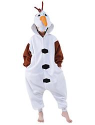 Kigurumi Animal Fête / Célébration Déguisement Halloween Blanc Motif Animal Collant/CombinaisonHalloween / Noël / Carnaval / Le Jour des