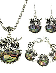 Stone Owl Shape Jewelry Set for Women