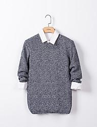 Herren Pullover-Punkte Freizeit Baumwolle Lang Blau / Beige