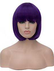 Perruques sans bonnet Perruques pour femmes Violet Perruques de Costume Perruques de Cosplay