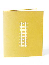 Non personnalisés Pliée Invitations de mariage Cartes d'anniversaire-1 Pièce/Set Monogramme Papier cartonné Nœud
