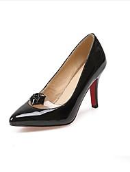 Damen-High Heels-Kleid / Lässig-PU-Stöckelabsatz-Absätze-Schwarz / Weiß