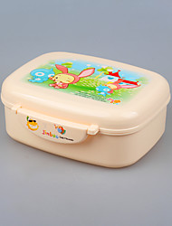 BPA Free Plastic Lunch Box Tiffin Box with Spoon for Kids
