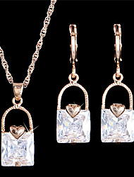 Schmuck Halsketten / Ohrringe Braut-Schmuck-Sets / Set / Halskette / Ohrringe Modisch / Vintage / EinstellbarHochzeit / Party / Alltag /