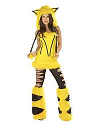 Costumes de Cosplay / Costume de Soirée Animal / Costumes de père noël / Bunny girl Fête / Célébration Déguisement Halloween Jaune Vintage