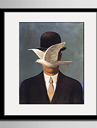 E-HOME® Framed Canvas Art, White Dove And Gentlemen Framed Canvas Print One Pcs