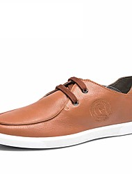 Черный / Желтый-Мужская обувь-Для прогулок / Для офиса / На каждый день-Кожа-Кеды