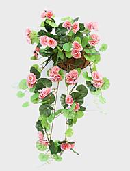 1 1 Une succursale Soie / Plastique Roses Guirlande et Fleur Murale Fleurs artificielles 68CM