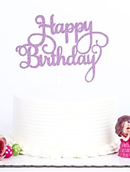 1 PC Happy Birthday Cake Toppers MultiColor