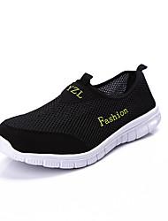 Men's Shoes Tulle Spring/Summer/Fall Comfort Sneakers Flat Heel Slip-on Black/Blue/Gray