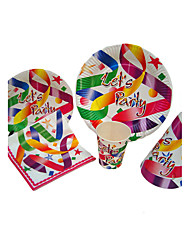 Birthday Party Tableware-100Piece/Set Bakeware Petals Card Paper Classic Theme  Multi Color
