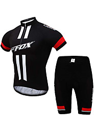 BATFOX® Cycling Jersey with Shorts Men's Short Sleeve BikeBreathable / Quick Dry / Windproof / Ultraviolet Resistant / Anti-Eradiation /