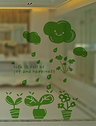 Window Film Window Decals Style Secret Garden Matte PVC Window Film - (60 x 58)cm