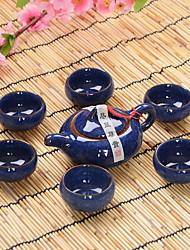 gelo rachadura jogo de chá esmalte