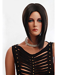 Black Color Short Straight Wigs Capless Synthetic Wigs For Women