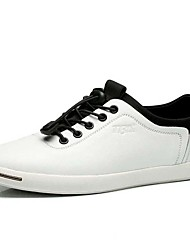 Men's Sneakers Spring / Summer / Fall / Winter Comfort Nappa Leather Athletic / Casual Flat Heel Black / White Sneaker