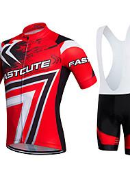 Fastcute Maglia con salopette corta da ciclismo Per uomo Per donna Bambini Unisex Manica corta Bicicletta Set di vestiti Asciugatura