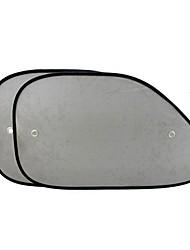 ziqiao 2ST Auto Sonnenschutz Seitenfenster Sonnenschutz Abdeckung Netzvisier Schirm Schirm solarer UV-Schutz