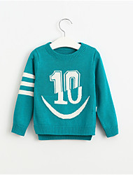 Boy's Number 10 long sleeve sweater Children O-Neck casual pullover sweaters