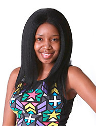 10-28 polegadas cor natural preto crespo africano cheia do laço peruca de cabelo 100% humano virgem brasileiro