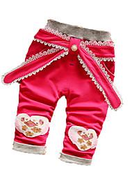 Pantalons bébé Imprimé Décontracté / Quotidien Coton Automne Bleu / Vert / Rose / Rouge / Gris