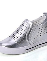 Women's Shoes Leatherette Spring / Fall Wedges Sneakers Casual Wedge Heel Others Black / White / Silver Walking