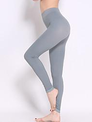 Women Solid Color Cross - spliced Legging,Nylon