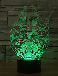Star Wars Millennium Falcon 3D LED Night Light 7Colorful Decoration Atmosphere Lamp Novelty Lighting Christmas Light