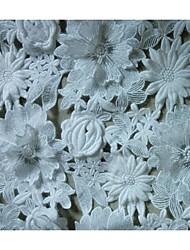 ткань одежды&обрезает твердое вещество белого цвета кружева 1 двор