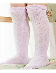 Girl's Casual/Daily Solid Socks,Cotton Spring Multi-color