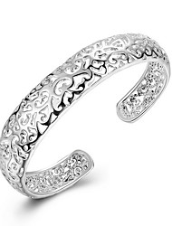 Femme Bracelets Rigides Manchettes Bracelets Mode Adorable Personnalisé bijoux de fantaisie Argent sterling Forme de Cercle Forme Ronde