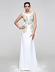 TS Couture® Formal Evening Dress Trumpet / Mermaid Scoop Court Train Chiffon with Pattern / Print