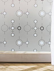 Window Film Window Decals Style Black And White Circle Matte PVC Window Film - (100 x 45)cm