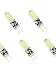 5pcs g4 1.5w conduit ampoule cob de filaments égal 20w lampe à incandescence (ac / dc 12v)