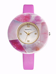 REBIRTH® Brand Women's Simple Fashion Dial PU Leather Strap Quartz Dress Watch Wrist Watch
