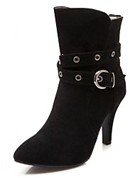 Feminino-Saltos-Saltos / Botas Montaria / Botas da Moda / Botas de Motocicleta / Coturno / Botas de Cowboy / Botas de Neve / Botas Cano