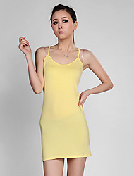 Women's Casual/Daily Cute Summer Tank Top,Solid Strap Sleeveless Yellow Modal Thin