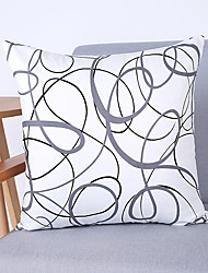 Minimalist Plain Solid Color Chaos Circle Cotton Pillow Cover Sofa Cushions Bay Window Lumbar Pillow