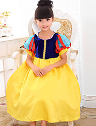 Ball Gown Ankle-length Flower Girl Dress - Chiffon Short Sleeve Bateau with Flower(s) / Pick Up Skirt