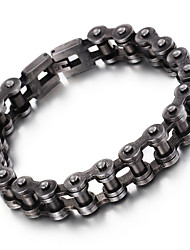Kalen New 316L Stainless Steel Brushed Bike Chain Bracelet Cool Oxidized Black Bicycle Chain Men's Bracelet Cool Gifts