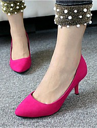 Women's Heels Fall Heels Dress Stiletto Heel Others Black / Blue / Fuchsia Walking