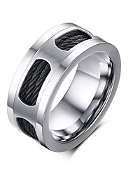 Rock Retro Drawing Titanium Steel Men's Ring