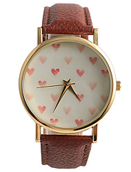 Boutique Simple No Digital Pink Heart Love Lady Watch