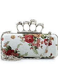 L.west Women Elegant High-grade Flower Skull Ring Evening Bag